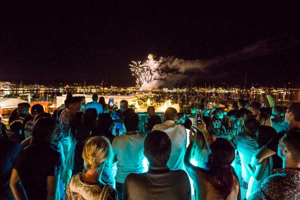 rio san antonio fireworks display rooftop terrace ibiza